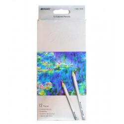 Creioane colorate 12 cul MARCO Raffine